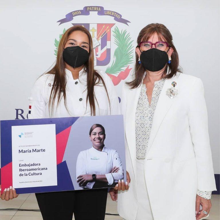 chef dominicana Maria Marte es designada embajadora cultural iberoamericana